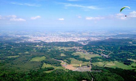 vue de la gare du Panoramique des Dômes